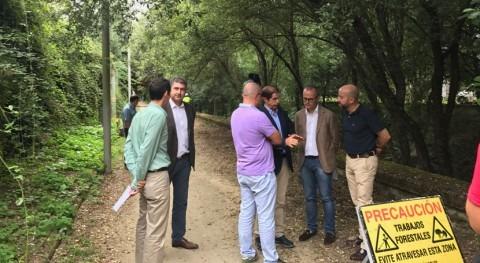 marcha acondicionamiento y limpieza río Barbaña paso zona urbana Ourense