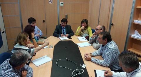 presidente CHE y edil Almudévar (HU) se reúnen hablar embalse lateral