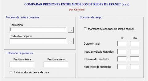 CheckPressure, herramienta que permite evaluar presiones múltiples escenarios Epanet