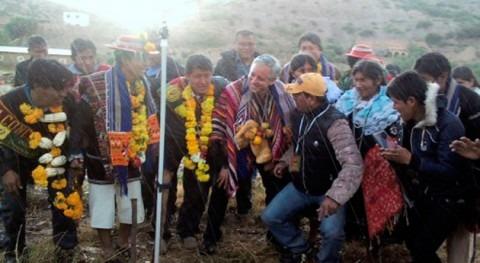 nuevo sistema riego Vitichi asegura producción agrícola 142 familias bolivianas