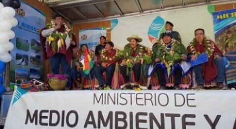nueva represa Yamparáez garantiza riego 140 hectáreas