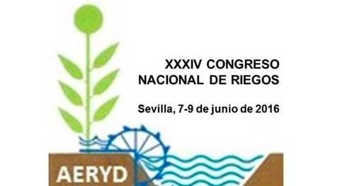 XXXIV Congreso Nacional Riegos, Sevilla 7-9 junio 2016