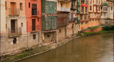 CHD retira provisionalmente pasarela madera río Duratón paso Peñafiel