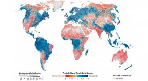 Más mitad ríos mundo no fluyen todo año