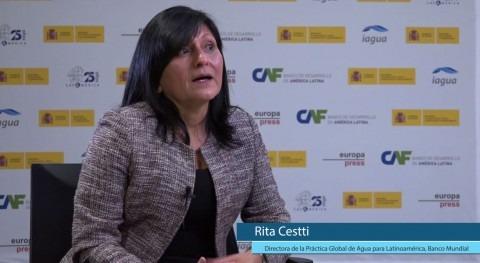 """Rita Cestti: """" Banco Mundial, queremos que tema agua se eleve nivel más alto"""""""