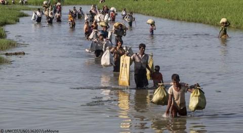 agua y recursos siguen siendo insuficientes rohingya