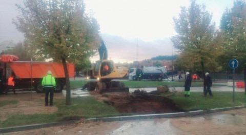 rotura tubería provoca importes retenciones accesos Valladolid