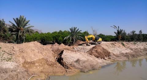 CHS repara azarbe Hurchillo recuperar capacidad frente crecidas