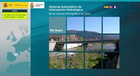 Aviso hidrológico: aumentos importante caudal tercios norte y este cuenca Ebro