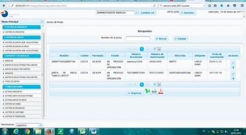 Pastaza, Ecuador, ya cuenta plataforma virtual registro juntas