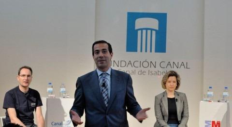 Salvador Victoria en un acto de la Fundación Canal