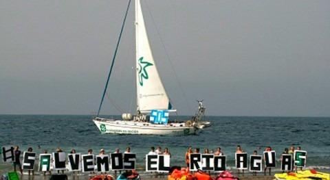 Ecologistas protesta ecocidio río Aguas