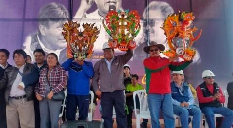 Gobierno boliviano inicia obras alcantarillado sanitario 34 barrios Oruro