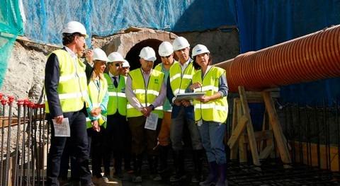 construcción colector mejora saneamiento aguas residuales Parla y Pinto