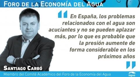 """Santiago Carbó: """" agua vive tragedia otras inversiones tremendamente necesarias"""""""