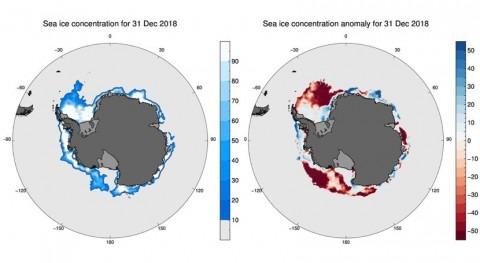 deshielo Antártida establece nuevo récord diciembre 2018