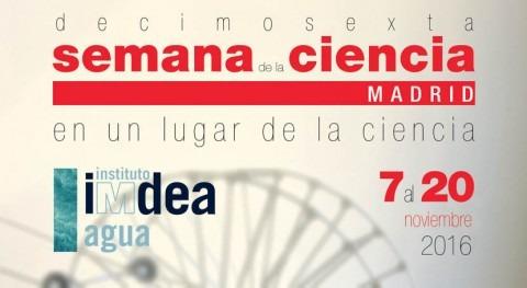 investigación agua estará presente Semana Ciencia