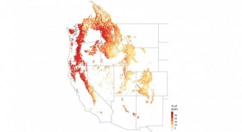 """cambio climático podría provocar """"sequías nieve"""" oeste Estados Unidos"""