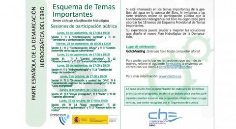 CHE organiza sesiones participación online tercer ciclo Planificación Hidrológica