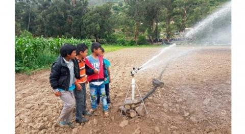 Bolivia entrega sistema riego ampliado 109 familias productoras Pojo Cochabamba