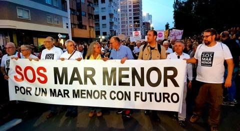55.000 personas se manifiestan Cartagena recuperación Mar Menor