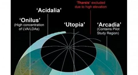investigación mapea fuentes potenciales agua Marte
