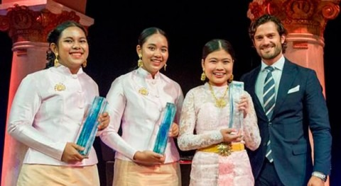 3 estudiantes Tailandia ganan Stockholm Junior Water Prize 2016