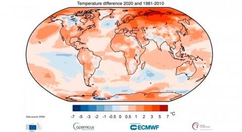 2020 empata 2016 como año más cálido registrado mundo