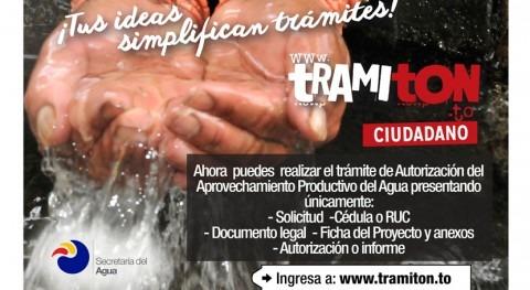 TRAMITÓN, nuevo sistema Ecuador que simplifica trámites acceso agua