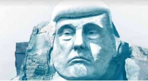ONG finlandesa quiere tallar cara Trump glaciar