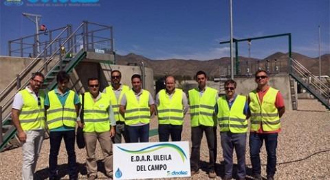 DINOTEC muestra Junta obras EDAR Uleila Campo (Almería)