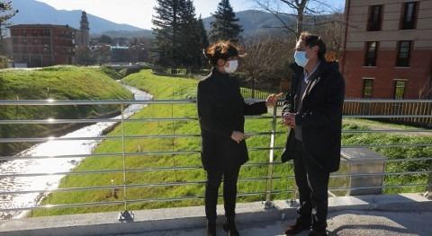 URA concluye obras suprimir 300 metros cobertura río Toloto Elorrio