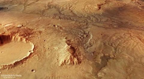red valles y canales ríos secos recorre región norte Marte