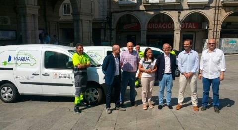Viaqua incorpora tres vehículos 100% eléctricos flota Ourense
