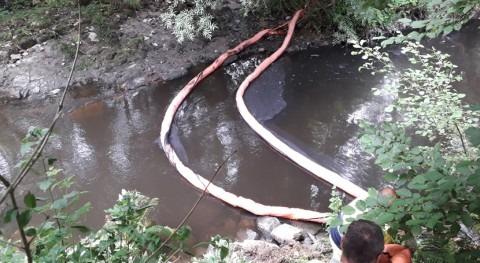 CHMS investiga vertido río Barbaña paso San Cibrao