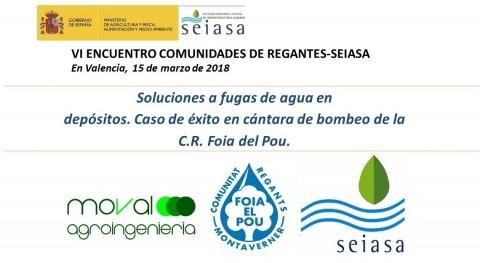 VI Encuentro Modernización Regadíos Comunidades Regantes y SEIASA