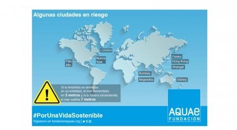 Fundación Aquae nos explica causas y consecuencias aumento nivel mar