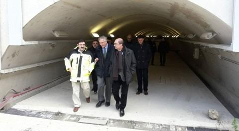 presidente Aragón y presidente CHE visitan obras recrecimiento Yesa