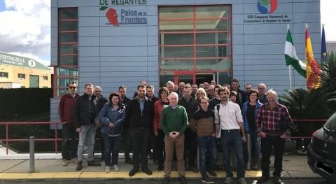 Comunidad Regantes expone grupo agricultores belgas sistemas regadío