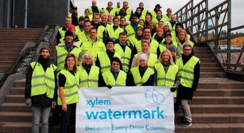 Empleados Xylem trabajan como voluntarios proyectos relacionados agua