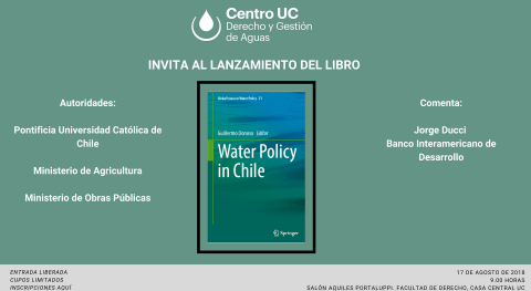 Lanzamiento Water Policy in Chile