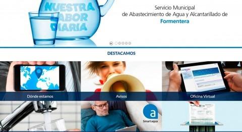 Todas gestiones Servicio Aguas, ya disponibles nueva web Aqualia Formentera