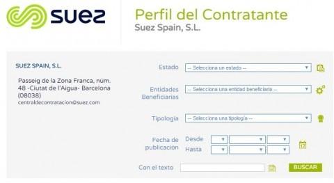 SUEZ Spain lanza página web Perfil Contratante Central Contratación