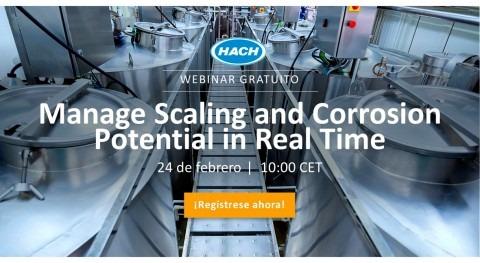 Webinar: gestión potencial incrustaciones y corrosión tiempo real