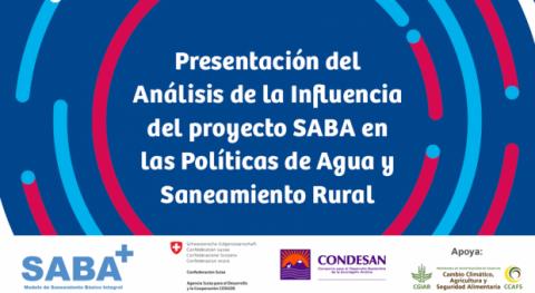 Webinar: Análisis influencia proyecto SABA políticas agua y saneamiento rural