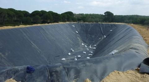 Nueva balsa de riego en el entorno de Doñana (WWF España).