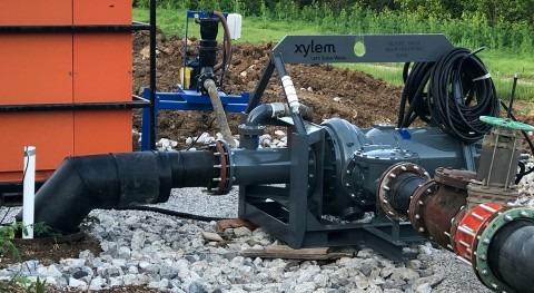 bomba eléctrica Flygt Xylem ahorra costes y gana eficiencia bypass alcantarillado