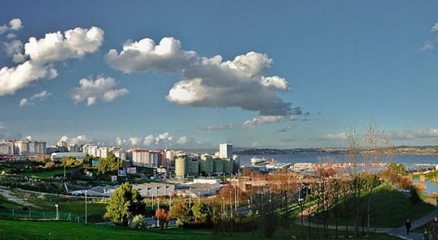 Ría de A Coruña y puerto pesquero (wikipedia)
