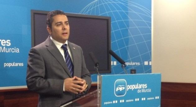 El diputado regional y secretario de área de Agricultura, Agua y Medio Ambiente del PP murciano, Jesús Cano