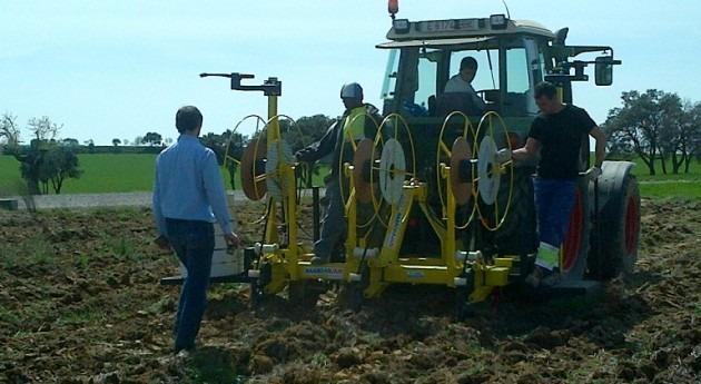riego subterráneo goteo llega cultivos extensivos Cataluña